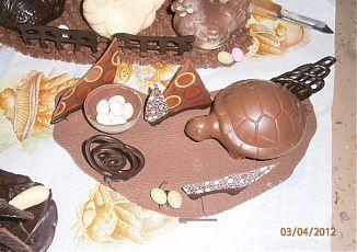 piece en chocolat noir et au lait